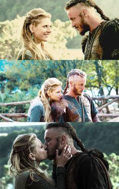 Vikings Lagertha and Ragnar