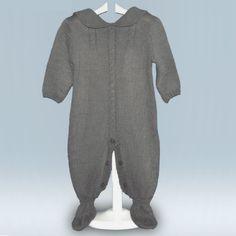 Pelele de lana clásico manga larga