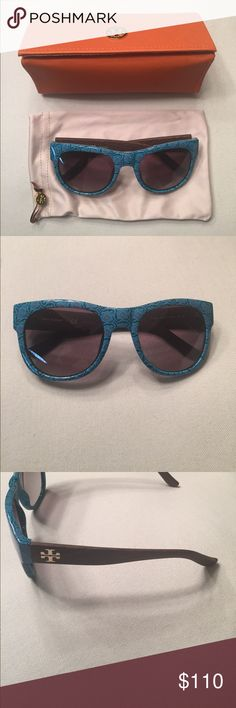 Authentic and fun Tori Burch Sunglasses with Case Authentic and fun Tori Burch Sunglasses with Case and cleaning/dust protector.... Tory Burch Accessories Sunglasses