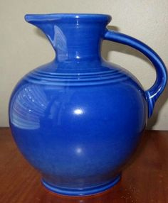 Rare Sapphire carafe. Exclusively made for Bloomingdale's for a few months in 1996