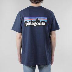 Patagonia P6 Logo T-shirt - Navy Blue at Urban Industry