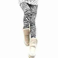 LOCOMO Women Black & White Zebra Print Animal Pattern Legging