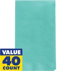 FOR THE BATHROOMS.  Robin's Egg Blue Guest Towels 40ct - Party City