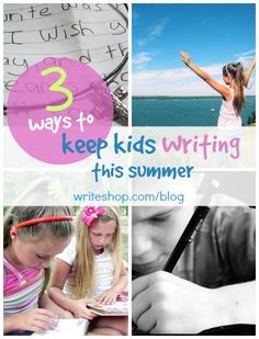 Keep kids writing this summer! Set them loose to journal about favorite books, write to a pen pal, or use imaginative story starters!