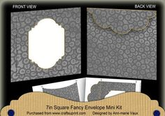 Black Beaded Fancy 7x7inch Easy Envelope Mini Kit on Craftsuprint - Add To Basket!
