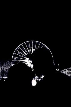 Precious, in front of World of Color