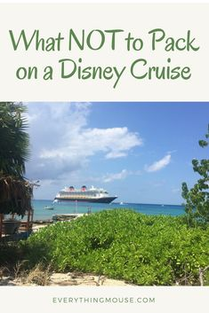 There is so much advice about what to pack on a Disney cruise that you may have missed the fact that some items are prohibited.   If you bring the wrong things on board your Disney cruise you could even end up with a fine!   One of these things is something which is often recommended on the internet! Learn how to make sure you are not packing any prohibited items on your Disney cruise.  #DisneyCruise #DisneyCruiseTips #DisneyDream #DisneyCruisePacking #DisneyCruisePackingTips #DisneyFantas