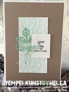 Thoughtful Branches, Petal Burst Textured Impressions Embossing Folder by Stampin' Up! Stempelkunst-by-Helga
