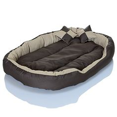 4in1 Hundebett XXL - kuscheliges, waschbares Hundekissen Sofa - Hundekorb Farbe: Creme Gr. S