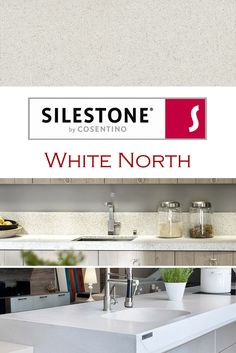 White North by Silestone is perfect for a kitchen quartz countertop installation.