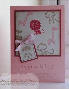 Sarah Makin - baby girl card fox & friends