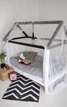 via mommo design - cute bed idea Baby Bedroom, Kids Bedroom, Kids Rooms, Master Bedroom, Shapes For Toddlers, Deco Kids, Big Girl Rooms, Boy Rooms, House Beds