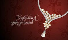 Diamond Polki #necklace with a #stunning dash of sparkling #pearl drop