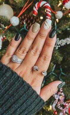 Christmas Gel Nails, Fall Gel Nails, Holiday Nails, Winter Nails, Nail Designs For Christmas, Winter Nail Colors, Nail Ideas For Winter, Simple Fall Nails, Winter Nail Art