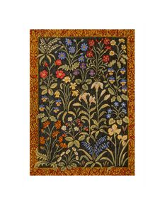 """Rug of Flowers Needlepoint Kit $850. By Candace Bahouth     55"""" x 40"""" (140 cm x 102 cm)  7 holes to the inch  Stitched double  Ehrman wools"""