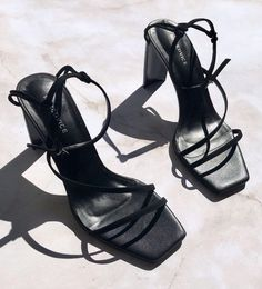 You've finally found that pair of inspired strappy heels that you've been searching for, for what feels like your entire life. Lace Up Heels, Black Heels, Pumps Heels, Stiletto Heels, Black Sandals, Black Suede, Cute Shoes, Me Too Shoes, Sock Shoes