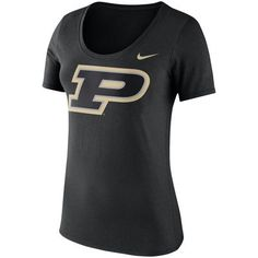 Purdue Boilermakers Nike Women's Logo Crew Neck T-Shirt - Black