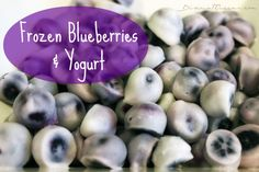 Frozen Blueberry Bites! An embarrassingly simple treat that's fun, simple & tasty! #TeamFFN #healthysnacking #cheatclean #blueberrymonth #FFNrecipes