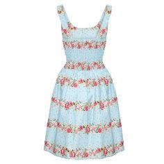 Voodoo Vixen Delilah Kleid Blau - Swing Kleider - Kleider