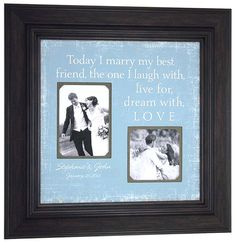 Personalized Picture Frame Today I MARRY my by PhotoFrameOriginals, $69.00