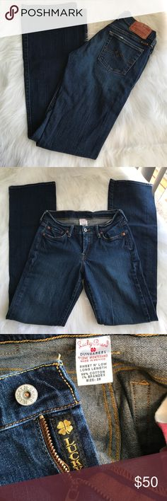 """LUCKY BRAND DUNGAREES Cute and stylish dressed up or down! Excellent pre-owned condition. 99% cotton/ 1% spandex. 33"""" inseam Lucky Brand Jeans Boot Cut"""