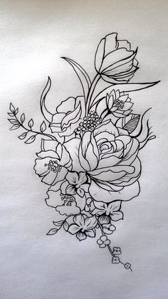 Floral tattoo by cit-cat-kate on deviantART