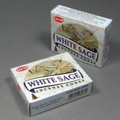 White Sage Incense Cones 10 cones per box Relaxing by GotRockz