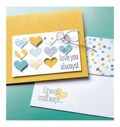 """Stampin' Up! - Love You Always Card and Envelope (5"""" x 3-1/2"""")"""