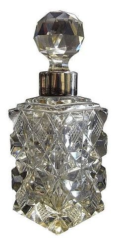 Sterling silver and cut glass perfume bottle, London 1899 - Scent Bottles - Costume & Dressing Accessories - Carter's Price Guide to Antiques and Collectables