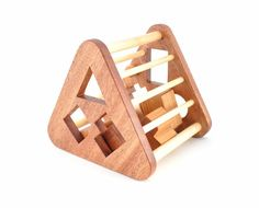 Wooden Shape Sorter Toy - Montessori Inspired Educational Toy for a Baby or a Toddler - Eco-Friendly Sorting Game - Organic Wood Toy