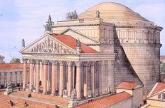 The Pantheon Rome Architecture Antique, Architecture Concept Drawings, Classical Architecture, Historical Architecture, Art And Architecture, Ancient Rome, Ancient History, Architecture Romaine, Rome Antique