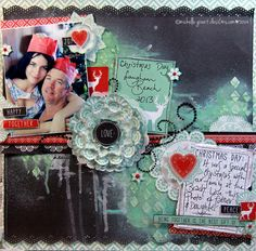 """North Pole """"Happy Together"""" Layout by Michelle Grant Scrapbook Blog, Scrapbooking Layouts, Happy Together, Mixed Media Artists, North Pole, Card Stock, Best Gifts, Paper Crafts, Joy"""