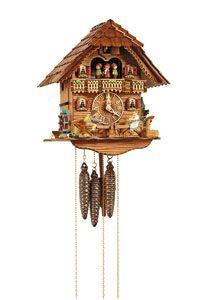 Black Forest Cuckoo Clocks 1-day musical - Chalet  1-day Chalet Cuckoo Clock 31cm by Anton Schneider