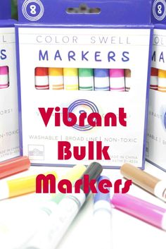 Check out these markers. They come in bulk and are perfect for  the classroom as well as the homeschool. Great for back-to-school.
