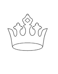 Use the printable outline for crafts, creating Templates Printable Free, Free Printables, Princess Crown Crafts, Wood Slice Crafts, Crown Template, Crown Pattern, Paper Crowns, Free Paper, Outline