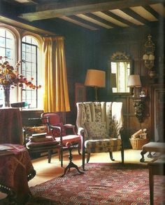 Classic English sitting room.
