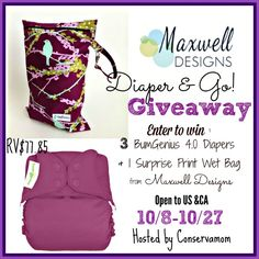 Win 3 diapers and a wet bag!