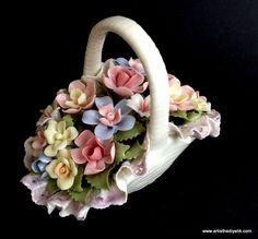 Dantelli Çiçek Sepeti | Kapitemonte Biblo
