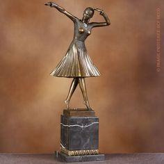 Sculpture/Statue bronze véritable Art nouveau/Art déco DANSEUSE CHARLESTON Signé:DEMETRE CHIPARUS