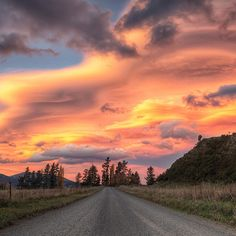 Mad panic to find a good spot to set up and take this sunset shot from #hanmersprings in #newzealand I was around the other side of a hill, didn't even realise the sky was going berserk just 5 minutes away. I took a turn off the highway hoping I could get up a hill. Shit out of luck I'm afraid. This gravel road had to do.