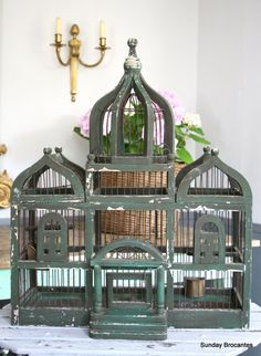 LOVE LOVE LOVE this French Antique Bird Cage by SundayBrocantes on Etsy