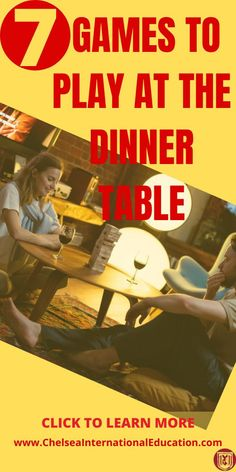 If you are looking for games to play at the dinner table, then look no further! In this post, we present to you 7 great games to play at the dinner table with friends that are engaging and entertaining and will have you and your friends thinking, laughing, and enjoying each other's company. These games to play at the dinner table can be used to help prepare for parties, birthdays, and general social activities. #gamestoplayatthetable #gamestoplayatthedinnertable #socialgames #coolgames… Social Activities, Fun Activities For Kids, Infant Activities, Educational Activities, Family Activities, Sibling Relationships, Communication Relationship, Christian Relationships, Relationship Advice