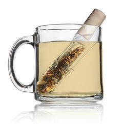 The Teatube Test Tube Tea Infuser is a handy way to steep a cup of tea.