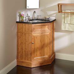 """36"""" Bridgemill Corner Bamboo Vanity for Undermount Sink - Bathroom Vanities - Bathroom"""