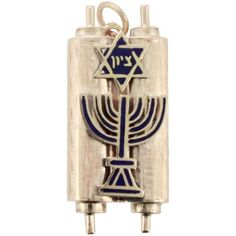 Pre-owned 14K Yellow Gold Jewish Menorah Star David Religious Pendant ($499) ❤ liked on Polyvore featuring jewelry, pendants, star pendant, pre owned jewelry, blue pendant, star jewelry and 14 karat gold jewelry