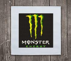 Monster Energy Drink - Embroidery Design Instant Download #EmbroideryDownloadCom