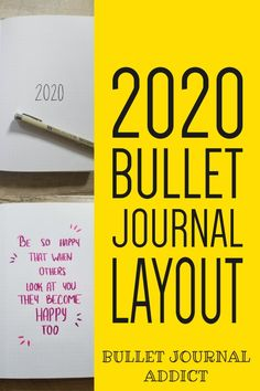 Bullet Journal Layout Ideas - Bullet Journal Collections To Try For 2020 - Bullet Journal New Year Set Up Bullet Journal Inspo, Bullet Journal Quotes, Bullet Journal Tracker, Bullet Journal Printables, Bullet Journal Notebook, Bullet Journal Themes, Bullet Journal Layout, Journal Fonts, Bullet Journals
