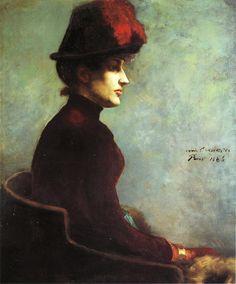Portrait of a Lady, 1886, by Lovis Corinth (German, 1858–1925)