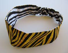 Zebra   Tiger Reversible Elastic Back Fabric Headband e995222b567