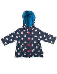 Frugi organic cotton rainy days jacket - front